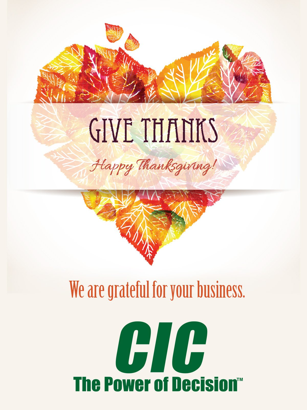 Happy Thanksgiving from CIC